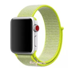 NEW Neon Green Apple Watch Sport Loop Band